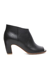 Maison Martin Margiela Maison Margiela Open Toe Leather Booties In Black