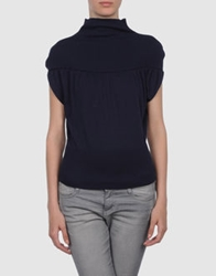 Mauro Gasperi Short Sleeve Sweaters Blue