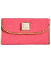 Dooney And Bourke Pebble Continental Clutch Hot Pink