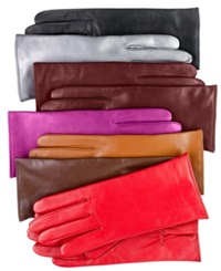 Charter Club Cashmere Lined Leather Gloves Port Red