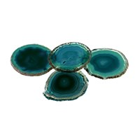Anna New York Pedra Coasters Set Of 4 Teal