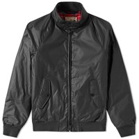 Baracuta G9 Dry Wax Harrington Jacket Black