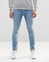 Ldn Dnm Spray On Jean Light Wash Blue