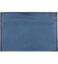 Mulberry Leather Mirror Card Holder Midnight Blue