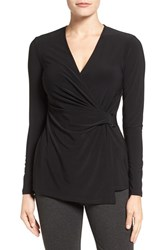 Anne Klein Women's Buckle Wrap Top