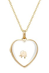 Loquet 14Kt Heart Locket With 18Kt Gold Charm Multicolor