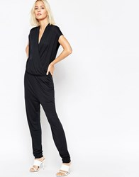 Selected Silla Jersey Jumpsuit Black
