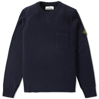 Stone Island Lambswool Crew Knit Blue