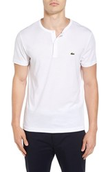 Lacoste Men's Henley T Shirt White