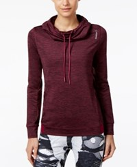 Reebok Funnel Neck Sweatshirt Mystic Maroon Rebel Berry