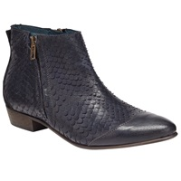 Alice By Temperley Somerset By Alice Temperley Puxton Reptile Effect Ankle Boots Navy Leather