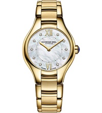 Raymond Weil 5124 P00985 Noemia Gold Pvd Plated Stainless Steel 10 Diamond Watch