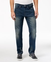 Sean John Men's Cross Bartacks Jeans Rain Wash