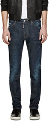 Dsquared Blue Dark Easy Cool Guy Jeans