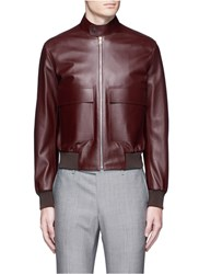 Paul Smith Leather Flight Jacket Red