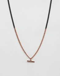 Icon Brand Link Chain Necklace In Black Black
