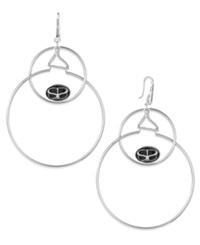 Sis By Simone I Smith Double Drop Halo Earrings In Platinum Over Sterling Silver