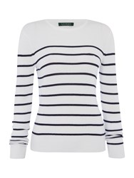 Lauren Ralph Lauren Vivito Stripe Jumper With Crew Neck