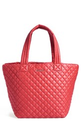 M Z Wallace Mz Wallace 'Medium Metro' Quilted Oxford Nylon Tote Red Poppy