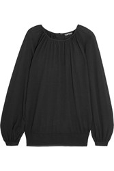 Tom Ford Gathered Cashmere And Silk Blend Sweater Black