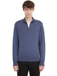 Brooks Brothers Zip Up Saxxon Wool Sweater