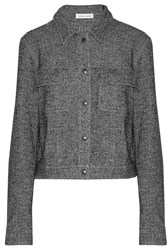 Tomas Maier Herringbone Cotton And Wool Blend Jacket Gray