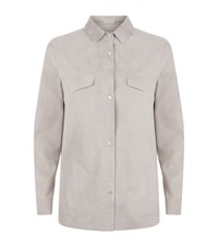 Malo Suede Shirt Female Grey