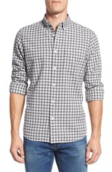 Nordstrom Men's Big And Tall Men's Shop Trim Fit Check Sport Shirt Grey Shade Grid Check