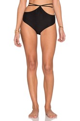 For Love And Lemons Monaco Bikini Bottom Black