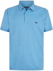 Wolsey Plated Pique Polo Azure