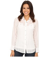 Ariat Alice Snap Shirt White Women's Long Sleeve Button Up