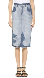 Cheap Monday Beach Skirt Blue Big Bleach