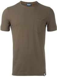 Drumohr Chest Pocket T Shirt Brown