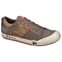 Merrell Rant Canvas And Leather Trainers Bracken Aluminium Navy