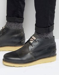 Original Penguin Chukka Boots In Black Leather Black