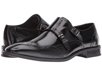 Stacy Adams Brewster Double Monk Strap Wingtip Black Men's Monkstrap Shoes