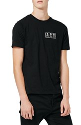 Topman Men's Skull Patch T Shirt