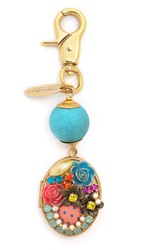 Lenora Dame Floral Locket Bag Charm Multi