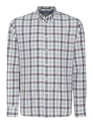 Criminal Eli Gingham Long Sleeved Check Shirt Multi Coloured