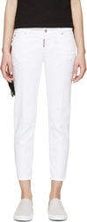 Dsquared White Scarf Deana Jeans