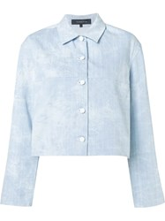Thakoon Cropped Denim Jacket Blue