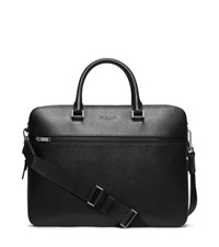 Michael Kors Harrison Large Leather Briefcase Black