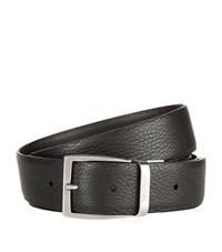 Canali Reversible Grained Leather Belt Unisex Multi