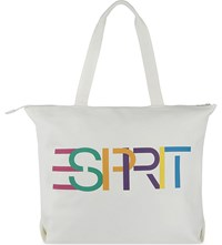 Opening Ceremony Logo Print Large Cotton Canvas Tote Cream