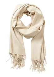 Betty Barclay Long Woven Scarf Cream