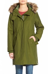 Madewell Faux Fur Trim Field Parka Camouflage Green
