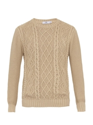 Inis Meain Aran Knit Crew Neck Sweater