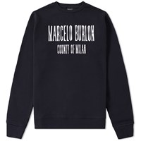 Marcelo Burlon El Misti Crew Sweat Black