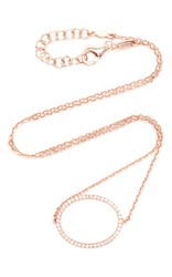 As29 La Collection Oval Diamond Single Chain Choker In Rose Pink