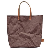 3 Wind Knots Paper Look Tote Bag Chocolate